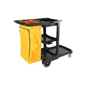 Janitor Cart - HD Premium Cart w/HD Premium Bag - Black 1 Per Pack, Price Per EA