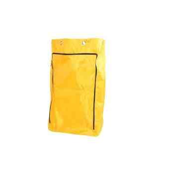 Janitor Cart - HD Vinyl Bag w/Zipper (6 Grommets Fits 3001) - Yellow 1 Per Pack, Price Per EA