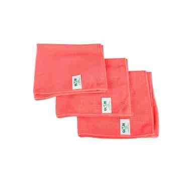 """Microfiber Cloth - 16x16"""" - Red 10 Per Pack, Price Per PK"""