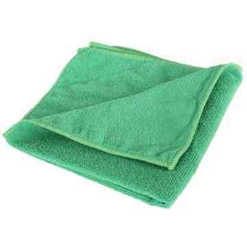 """Microfiber Cloth - 14x14"""" - Green 10 Per Pack, Price Per PK"""