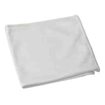"Microfiber Cloth - 14x14"" - White 10 Per Pack, Price Per PK"