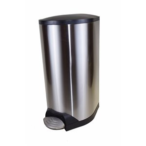 Step On Can 10L/2.6G w/Soft Close Lid - Stainless Steel 6 Per Pack, Price Per EA