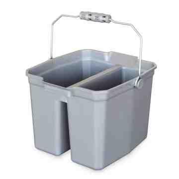 Bucket - 15qt Double Bucket - Grey 6 Per Pack, Price Per EA