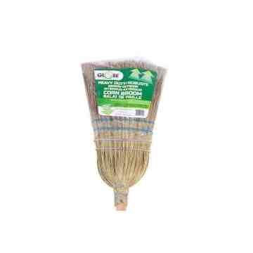Corn Broom - All Corn HD 2 Wire 2 String 12 Per Pack, Price Per EA