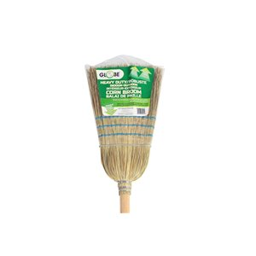 Corn Broom - Industrial 1 wire 3 string 12 Per Pack, Price Per EA