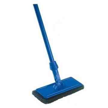 Utility Scrubbing Set Medium Duty [Includes Handle/Frame/Pad] - Blue 12 Per Pack, Price Per CS