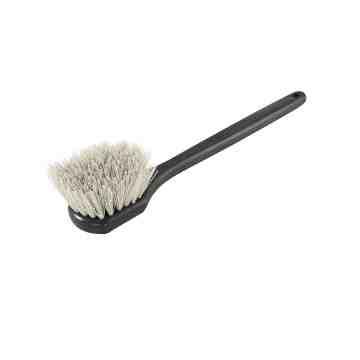 Brush - Long Handle Gong - Stiff Fiber - Black/Yellow 12 Per Pack, Price Per EA