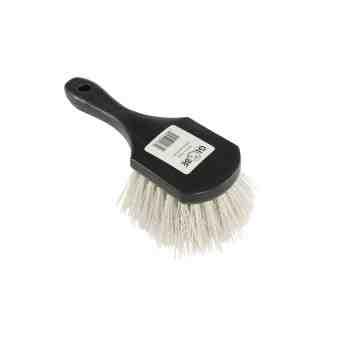 Short Handle Gong Brush Black/Gray - Stiff Fiber 12 Per Pack, Price Per EA