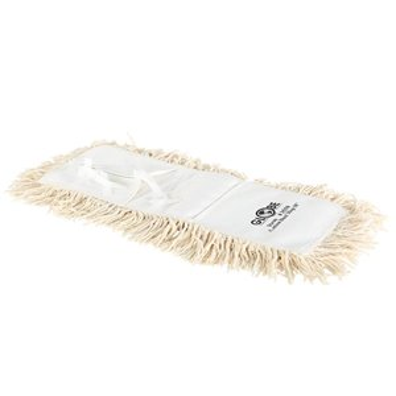 "Mop Head - Cotton Dust Mop 18x5"" Tie On - White 24 Per Pack, Price Per EA"