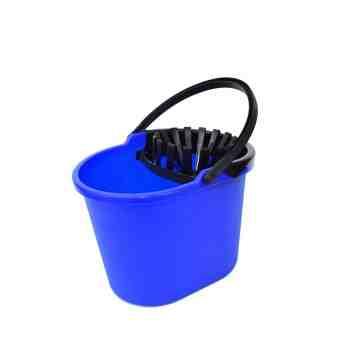 Mop Bucket 13qt w/Wringer - Blue/Black 6 Per Pack, Price Per CS