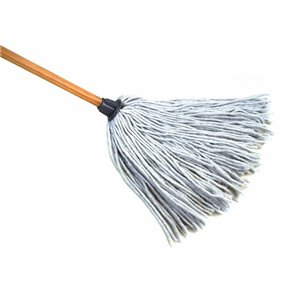 """Mop - Synthetic Yacht Mop 8oz 4-Ply w/Wood Handle 48"""" 6 Per Pack, Price Per EA"""