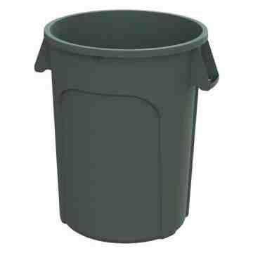 Waste Container Round 20G - Grey 6 Per Pack, Price Per EA