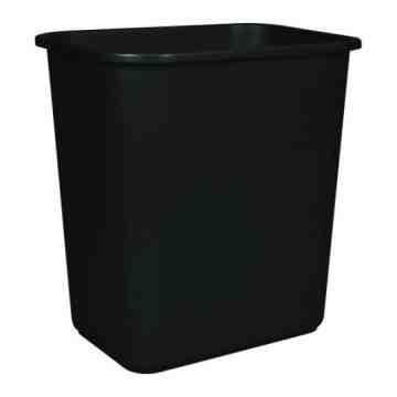 Wastebasket 26L/28qt - Black 6 Per Pack, Price Per EA