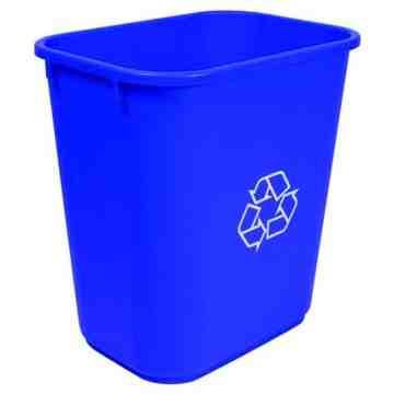 Wastebasket 26L/28qt Recycling - Blue 6 Per Pack, Price Per EA