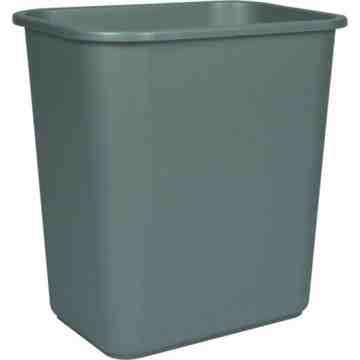 Wastebasket 26L/28qt - Grey 6 Per Pack, Price Per EA