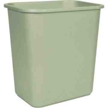 Wastebasket 26L/28qt - Beige 6 Per Pack, Price Per EA
