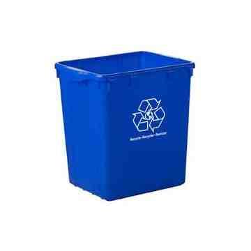 """Recycling Bin - 22G - 19x15x21"""" - Blue 1 Per Pack, Price Per EA"""