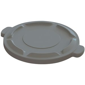 Lid Fits 20G Round Container - Grey 6 Per Pack, Price Per EA