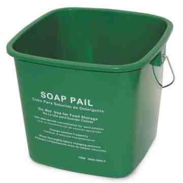 Pail Cleaning 6qt - Green 6 Per Pack, Price Per EA
