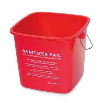 Pail Sanitizing 3qt - Red 12 Per Pack, Price Per EA