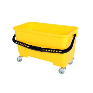 Window Cleaning Bucket w/Sediment Screen/Casters - Yellow 5 Per Pack, Price Per EA