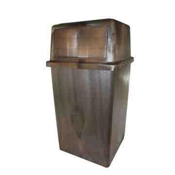 Indoor/Outdoor 45G Container w/Doors - Brown 1 Per Pack, Price Per EA