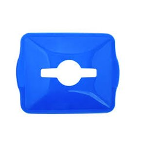 Lids for Curbside Recycle Bins Quick-Drop Slotted Hole - Blue 10 Per Pack, Price Per EA