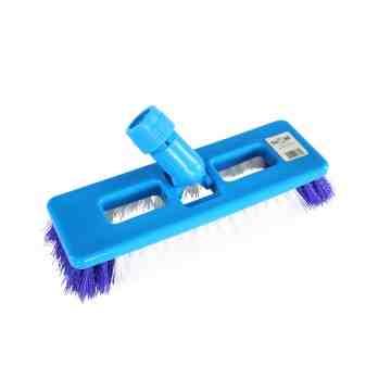 Swivel Scrub Brush - White/Blue 12 Per Pack, Price Per EA