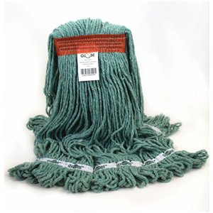 Synthetic Looped End Wet Mop Narrow Band Green 20oz 12 Per Pack, Price Per CS