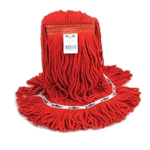Synthetic Looped End Wet Mop Narrow Band Red 20oz 12 Per Pack, Price Per CS
