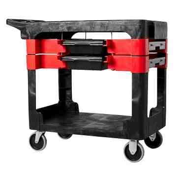 Trades Cart w/2 Boxes/4 Bins - Black, 1/EA