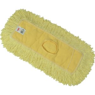 """Trapper Dust Mop 18x5"""" - Yellow, 12/EA"""