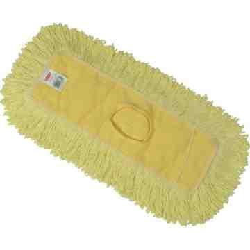 """Trapper Dust Mop 24x5"""" - Yellow, 12/EA"""