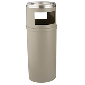 Ash/Trash Container w/o Doors 25G - Beige, 1/EA