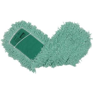 """Antimicrobial Blend Dust Mop 24"""" - Green, 12/EA"""