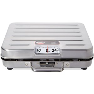 Briefcase Receiving Scale 250 lbs 1lb Stainless Steel, 2/EA
