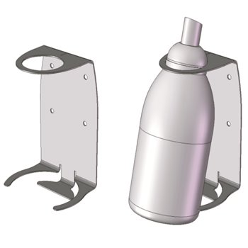 Wall Bracket for 550ml Anti Bacterial Hand Soap, 6/Case, Sold By Case