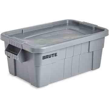 Brute Tote with Lid-Capacity - 14 gal, 53 L, 6/EA