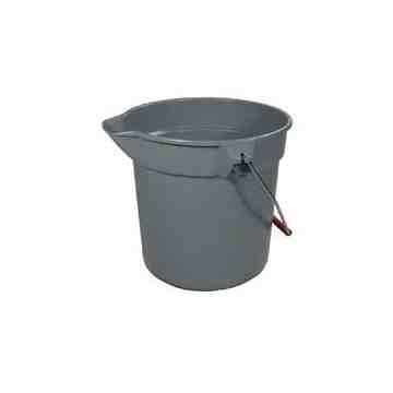 Brute Bucket Round 10qt - 9.5L - Gray, 12/EA