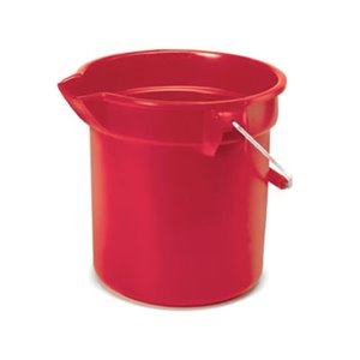 Brute Bucket Round 10qt - 9.5L - Red, 12/EA