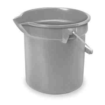 Brute Bucket Round 14Qt - Gray , 6/EA