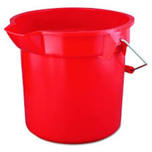 Brute Bucket Round 14Qt - Red, 6/EA