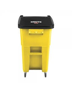 Brute Rollout Container 50G - Yellow, 2/EA