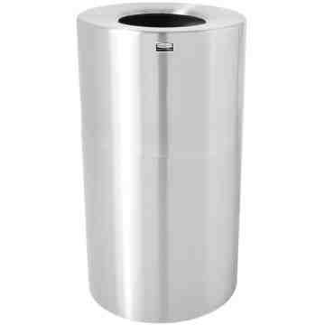 Atruim - Open Top Waste Receptable 21G - Satin Alum/Plastic liner ,  1 / EA