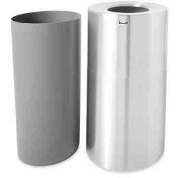 Atruim - Open Top Waste Receptable 55G - Satin Alum/Plastic liner ,  1 / EA