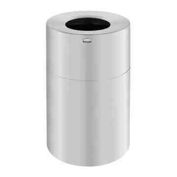 Atruim - Open Top Waste Receptable 62G - Satin Alum ,  1 / EA