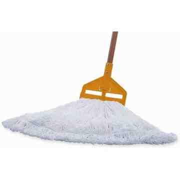 "Gloss Pro Finish Mop Medium 19oz 1"" - White, 6/CS"