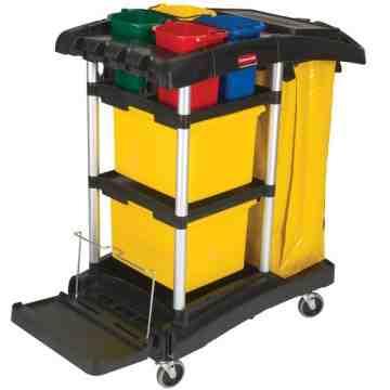 Hygen Microfiber Janitor Cart, 1/EA