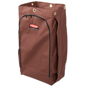 Housekeeping Cart Canvas Vinyl Lined Bag - 30G High Capacity - Brown[9T04], 4/EA