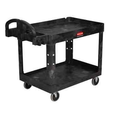 "HD Utility Cart - Large 24""x36"" - 2 Shelf - Black, 1/EA"